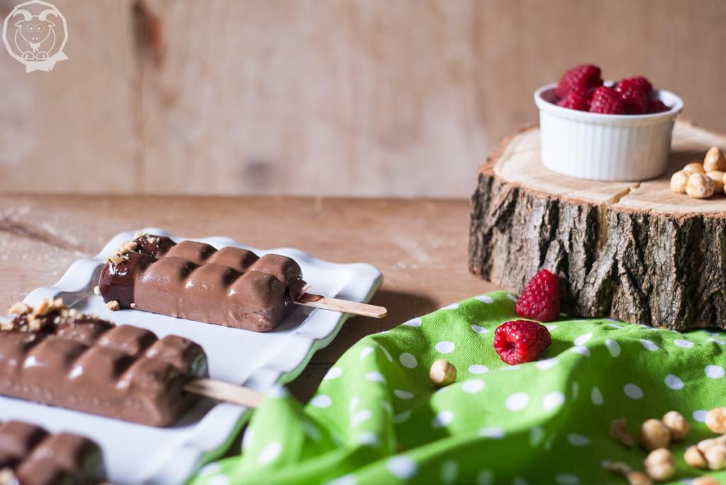 gelato lamponi e cioccolato