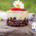 Mini cheesecake al caffe' verde