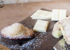 Madeleine cioccolato bianco e zenzero
